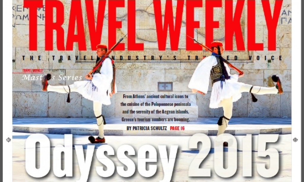 Marketing Greece: Athens on Travel Weekly magazine cover