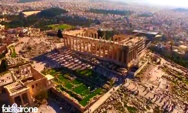 Impressive Acropolis drone video