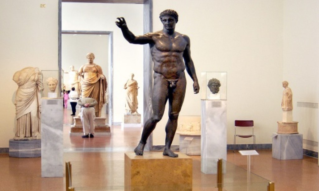 Music and sculpture at Greek National Archaeological Museum events on Monday